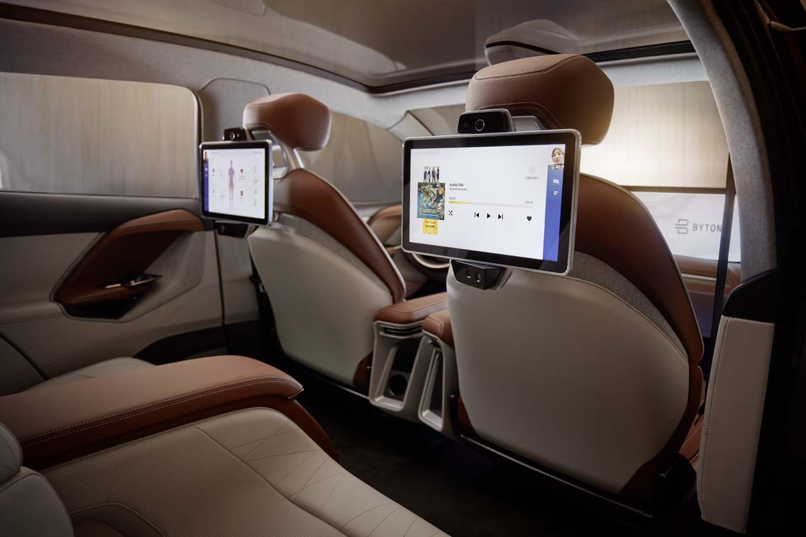 byton m byte concept interior backseat view