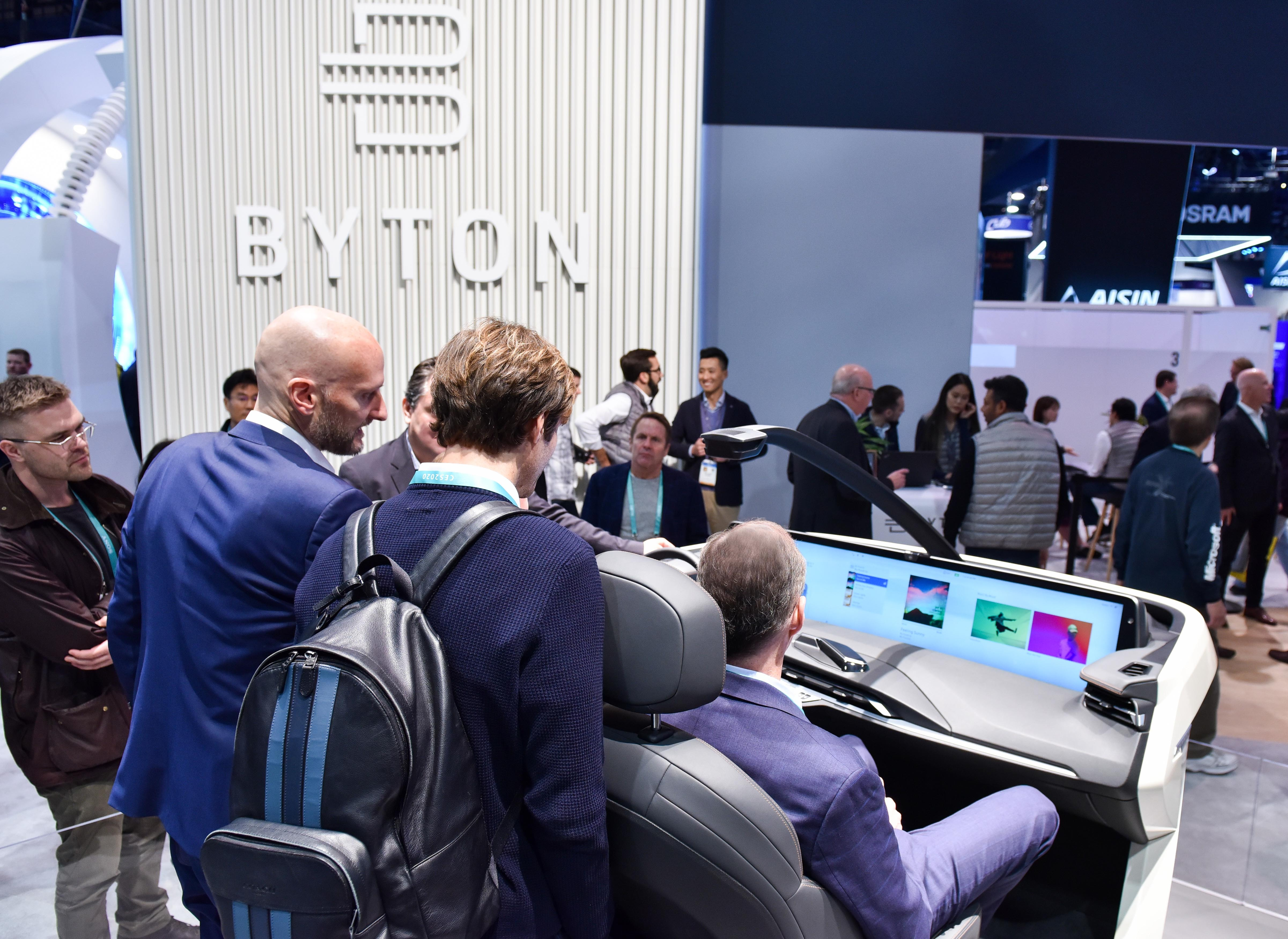 5 byton booth at ces